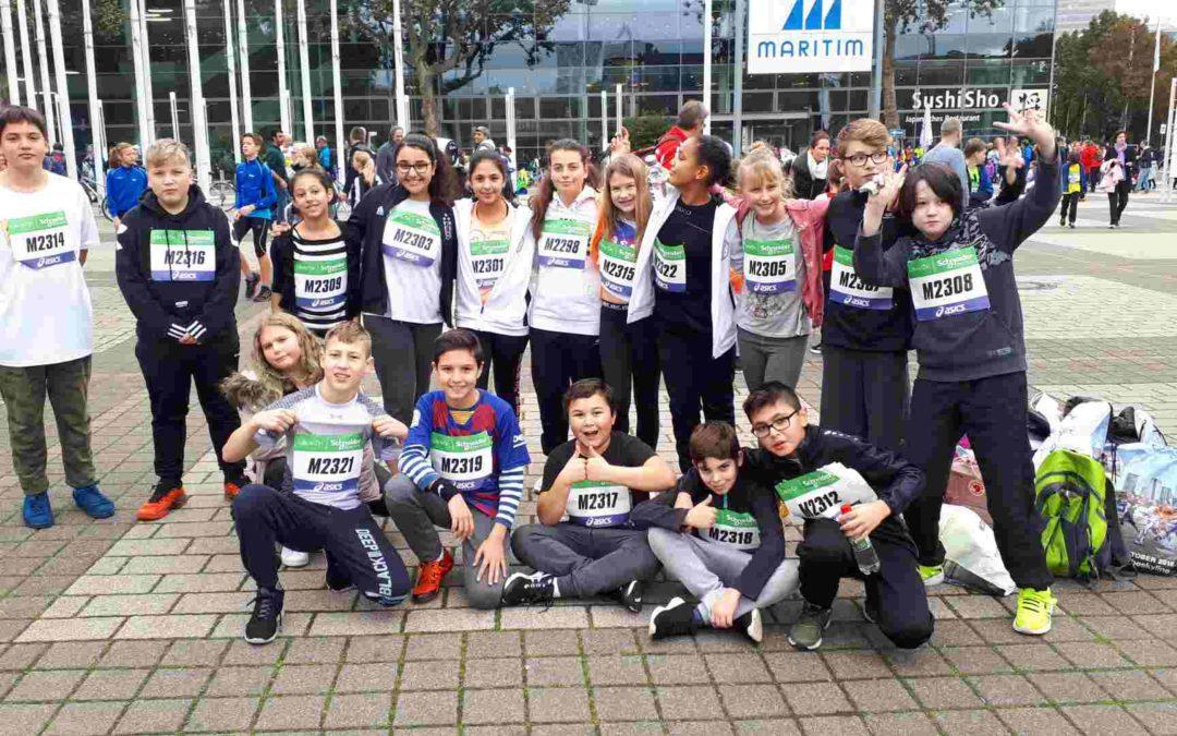 Klasse 6b beim Mini-Marathon
