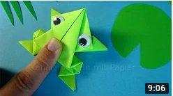 Origami-Frosch falten