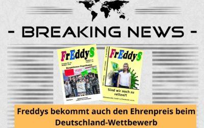 Ehrenpreis beim Deutschland-Wettbewerb der Jugendpresse